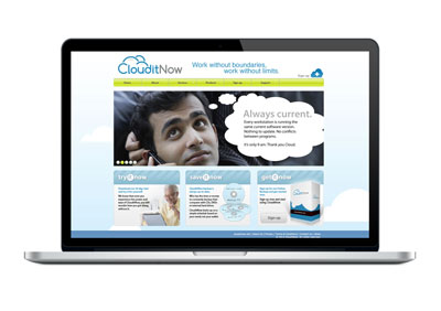Web Design for Software Company CloudItNow